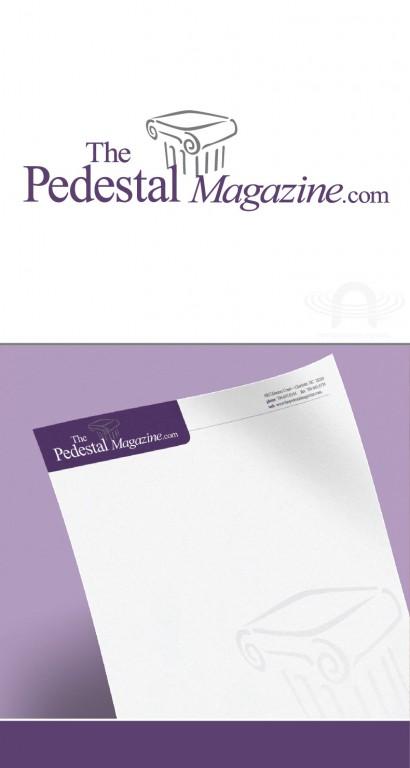 PEDESTAL MAGAZINE LOGO AND LETTERHEAD